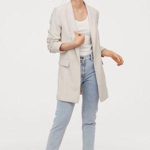 H&M long jacket blazer size 8